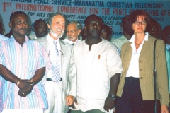 In Ghana at the First International Conference for Peace and Prosperity of Nations