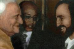 In New Delhi with the Indian President V. V. Giri (1987)